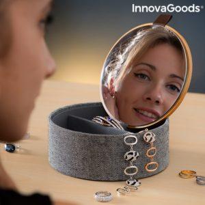 Органайзер за бижута от бамбук с огледало InnovaGoods Mibox