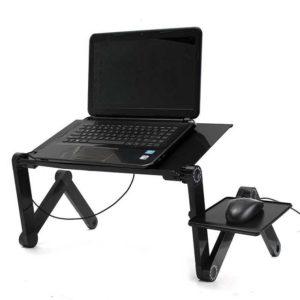 Сгъваема маса за лаптоп с USB охладител и поставка за мишка