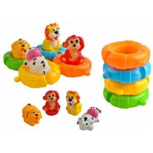 Детска играчка за баня с животни - 4 броя