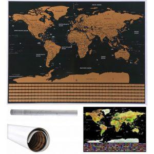 Скреч карта на света - със знамена