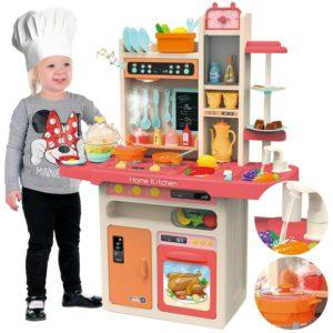 Голяма пластмасова детска кухня за игра с прибори - размер XXL