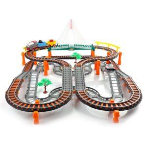 Детска състезателна писта с влакчета и коли - 2в1