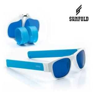 Сгъваеми слънчеви очила Sunfold AC2 - полароид, сини и бели
