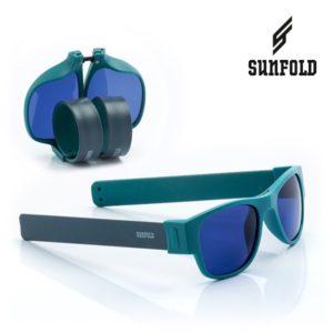 Сгъваеми слънчеви очила Sunfold AC4 - полароид, тюркоазени