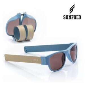 Сгъваеми слънчеви очила Sunfold AC5 - полароид, сини и бежови