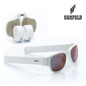 Сгъваеми слънчеви очила Sunfold ES4 - полароид, бели