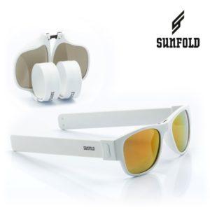 Сгъваеми слънчеви очила Sunfold ES6 - полароид, бели