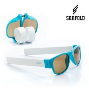 Сгъваеми слънчеви очила Sunfold PA2 - полароид, сини и бели