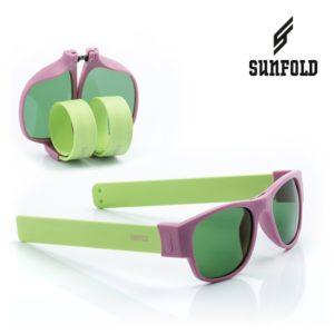 Сгъваеми слънчеви очила Sunfold PA6 - полароид, зелени и лилави