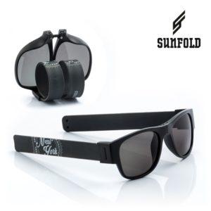 Сгъваеми слънчеви очила Sunfold ST1 - полароид, черни