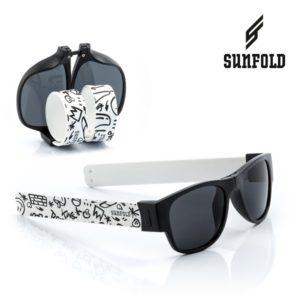 Сгъваеми слънчеви очила Sunfold ST2 - полароид, черни и бели