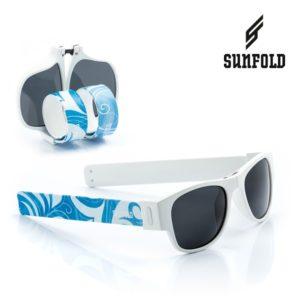 Сгъваеми слънчеви очила Sunfold ST3 - полароид, сини и бели