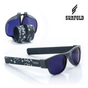 Сгъваеми слънчеви очила Sunfold TR1 - полароид, черни и бели