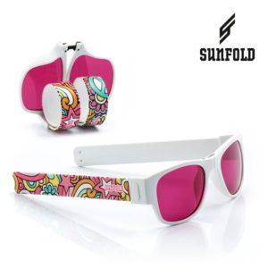 Сгъваеми слънчеви очила Sunfold TR4 - полароид, розови и бели