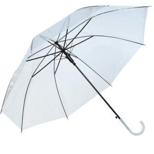 Лек прозрачен чадър