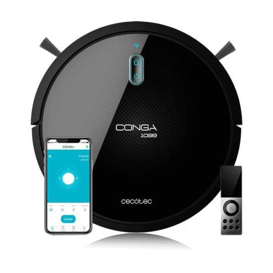 Смарт прахосмукачка робот за под Cecotec Conga 1099 Connected 1400 Pa 64 dB WiFi Black