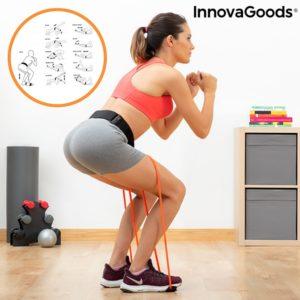 Ластици за фитнес тренировка Bootrainer InnovaGoods с наръчник за упражнения