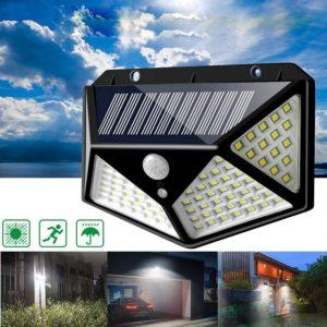 Четворна соларна LED лампа със сензор за движение и с светлодиода CL-100