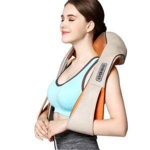 Шиацу масажор за врат и гръб с ръкохватки
