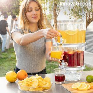 Двуетажен диспенсър за напитки InnovaGoods TwinTap