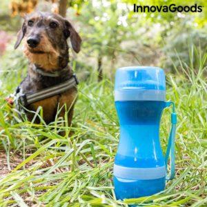 Кучешка бутилка за вода InnovaGoods Pettap 2 в 1