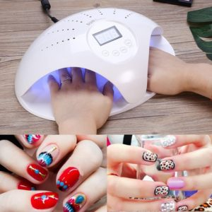 Професионална LED UV лампа за маникюр Sun 669 48W - автоматична