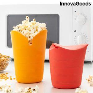 Сгъваеми кутии за приготвяне на пуканки InnovaGoods Popbox х2