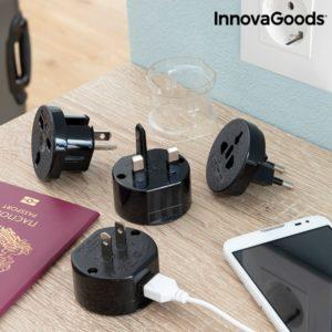 Универсален адаптер за пътуване за различни контакти InnovaGoods Electrip