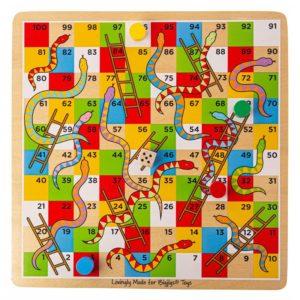 Детска дървена игра Змии и стълби Bigjigs MTBJ788 1