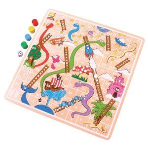 Детска дървена игра змии и стълби Bigjigs MTBJ590 1