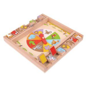 Детска дървена игра с животни затвори кутията Bigjigs MTBJ698 1