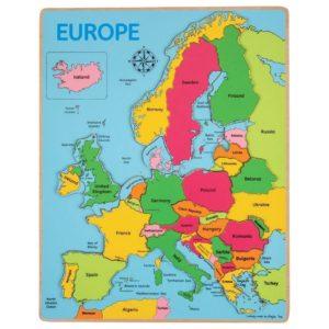 Детски дървен пъзел карта на Европа Bigjigs MTBJ048 1