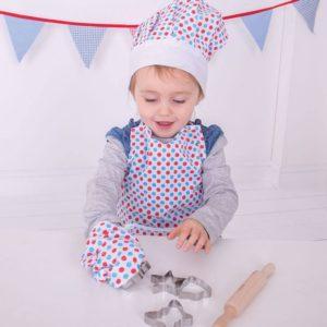 Детски костюм на готвач с точки Bigjigs MTBJ633 1