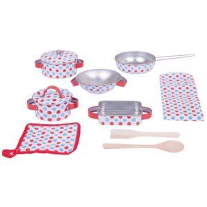 Детски метален готварски комплект на точки Bigjigs MTBJ631 1