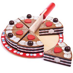 Дървена играчка Шоколадова торта Bigjigs MTBJ627 1