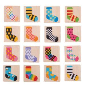 Дървена мемо игра Чорапи Bigjigs MTBJ905 1