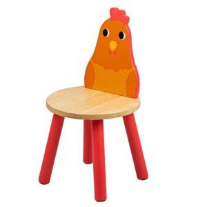 Дървено детско столче кокошчица Bigjigs MTT0624 1