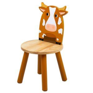 Дървено детско столче кравичка Bigjigs MTT0621 1
