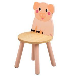 Дървено детско столче прасенце Bigjigs MTT0622 1
