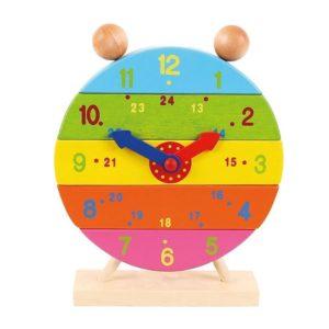 Дървен детски часовник - сглобяем Bigjigs MTBJ659 1