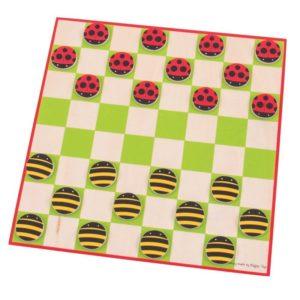 Детска дървена игра дама Калинки и пчелички Bigjigs MTBJ211 1