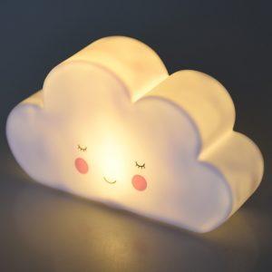 Детска нощна лампа Бяло облаче - Rex London