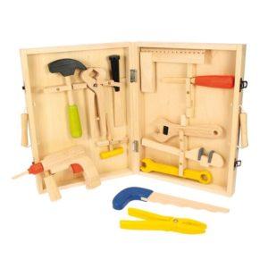 Дървен детски куфар с инструменти Bigjigs MTBJ245 1