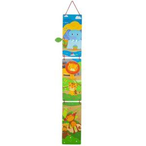 Дървен детски метър за стена Животните от джунглата Bigjigs MTT0626 1