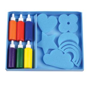 Комплект за рисуване с гъби и боички - Rex London