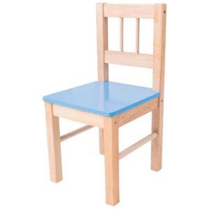 Синьо детско дървено столче Bigjigs MTBJ251 1