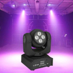 Диско лазер с ефекти и двойна въртяща се глава