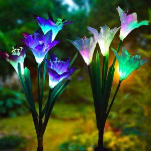 Соларна лампа лилиум Solar Light Flower